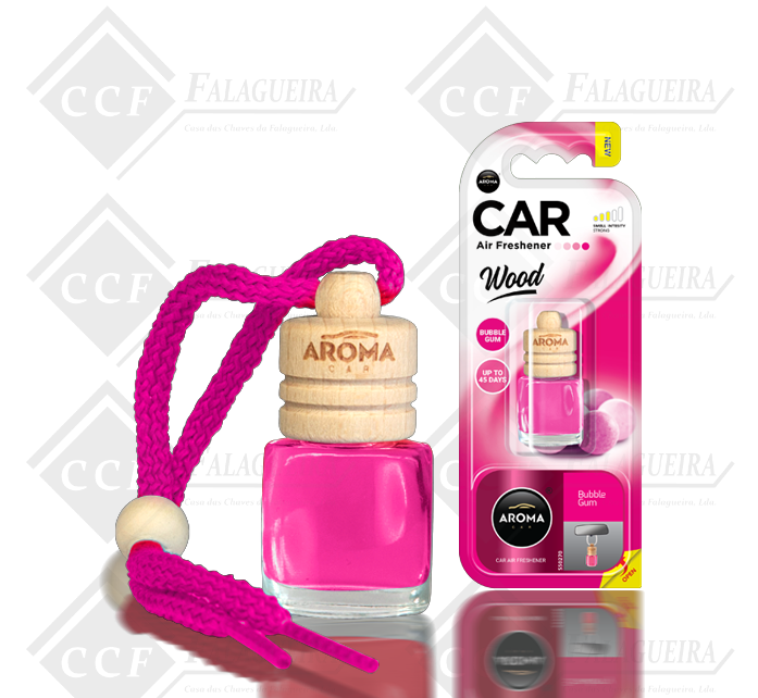 AROMA CAR WOOD BUBBLE GUM 6ML